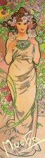 Záložka Alfons Mucha Růže