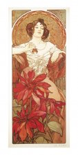 Pohled Alfons Mucha – Ruby, dlouhý