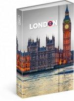 Diář 2018 - Londýn, týdenní magnetický, 10,5 x 15,8 cm