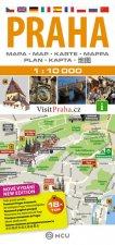 Praha - plán města  1:10 000