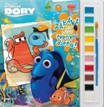 Vymaľovanka s vodovými farbami Hľadá sa Dory