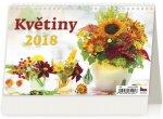 Kalendář stolní 2018 - Květiny
