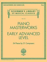 Piano Masterworks - Early Advanced Level: Schirmer's Library of Musical Classics Volume 2112