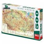 Mapa České republiky - puzzle 500 dílků
