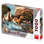 Koně - puzzle 1000 dílků secret collection