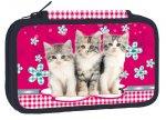 Školní penál třípatrový - Cats