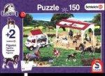 Schleich, Reitschule und Tierärztin (Kinderpuzzle) + 2 Figuren