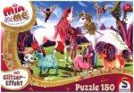 Mia & Me, Glitzerpuzzle, Ankunft der Pony-Einhörner (Kinderpuzzle)
