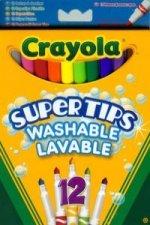 Flamastry Crayola spieralne pastelowe Supertips 12 sztuk