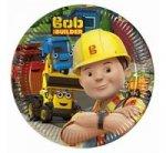 Talerzyki papierowe Bob The Builder 20 cm 8 sztuk