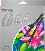 Kredki ołówkowe okrągłe COLORINO ARTIST 24 kolory
