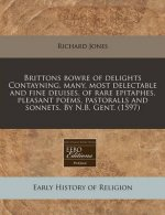 Brittons Bowre of Delights Contayning, Many, Most Delectable and Fine Deuises, of Rare Epitaphes, Pleasant Poems, Pastoralls and Sonnets. by N.B. Gent