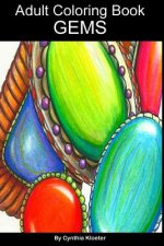 Adult Coloring Book: Gems