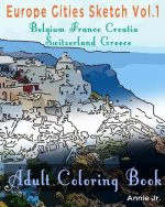 Europe Cities Sketch: Adult Coloring Book