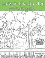 Cats in the Garden: Adult Coloring Book