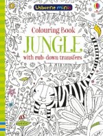 Colouring Book Jungle with Rub Downs