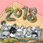 Lichožrouti Rodinný plánovací kalendář - nástěnný kalendář 2018