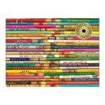 Phat Dog Vintage Pencils 1000 Piece Foil Stamped Puzzle