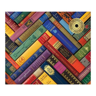 Phat Dog Vintage Library 1000 Piece Foil Stamped Puzzle