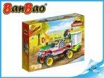BanBao stavebnice Safari jeep se zvířecí klecí 355ks + 3 figurky ToBees