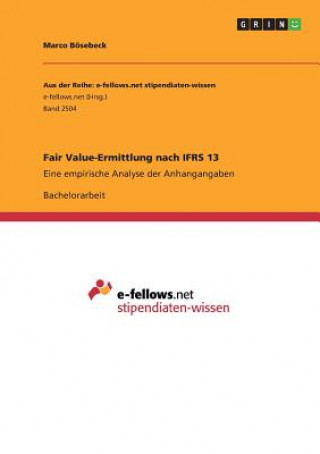 Fair Value-Ermittlung nach IFRS 13