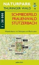 Naturpark Thüringer Wald 10. Schmiedefeld, Frauenwald, Stützerbach 1 : 30 000 Wanderkarte
