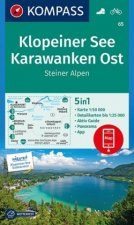 Klopeiner See, Karawanken Ost, Steiner Alpen 1:50 000