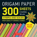 Origami Paper - Stripes and Solids - 4 inch - 300 sheets