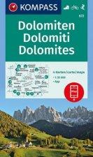 KOMPASS Wanderkarte Dolomiten, Dolomites, Dolomiti