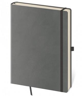 Zápisník Flexies L linkovaný šedý