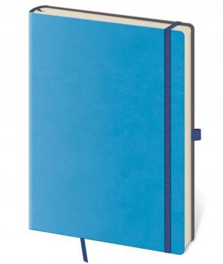 Zápisník Flexies L linkovaný modrý