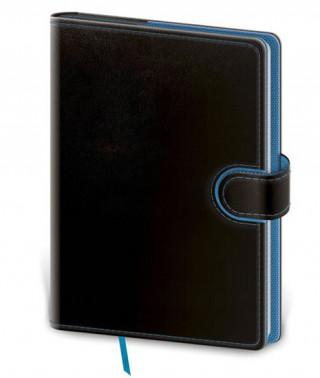 Zápisník Flip L čistý černo/modrý