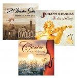 Komplet klasické hudby - 3 CD (A. Dvořák, J. Straus, Klasika pro nedělní ráno)