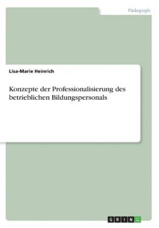 Konzepte der Professionalisierung des betrieblichen Bildungspersonals