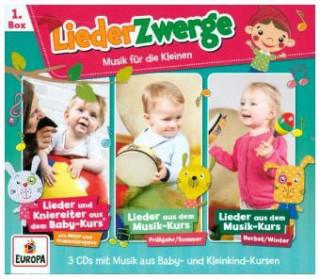 Lena, Felix & die Kita-Kids 3er Box LiederZwerge. Box.1, 3 Audio-CD