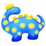 Dinosaurus modrý