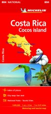Costa Rica National Map 804