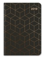 Midi Flexi Diary GlamLine Black/Copper 2019