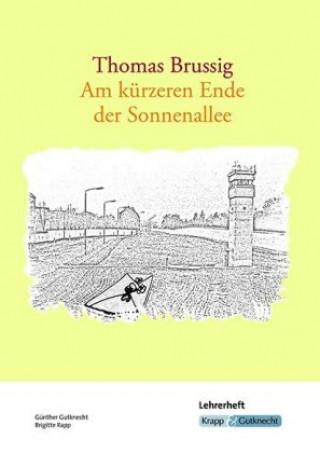 Thomas Brussig, Am kürzeren Ende der Sonnenallee, Lehrerheft