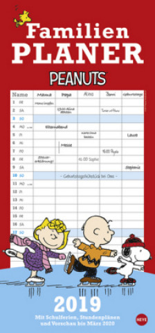 Peanuts Familienplaner 2019