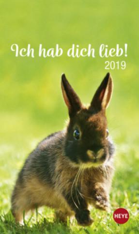Mini Kaninchen Ich hab dich lieb! 2019