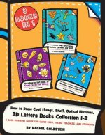 How to Draw Cool Things, Stuff, Optical Illusions, 3D Letters Books Collection 1-3: A Cool Drawing Guide for Older Kids, Teens, Teachers, and Students