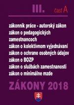 Zákony 2018 III. časť A