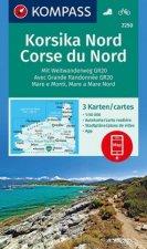 KOMPASS Wanderkarte Korsika Nord, Corse du Nord, Weitwanderweg GR20 1:50 000