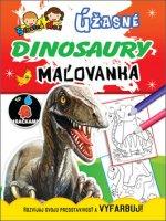 Úžasné dinosaury Úžasní dinosauři, maľovanka / omalovánka