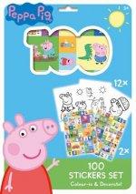 100 Stickers Set Prasátko Peppa