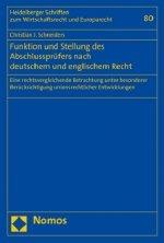 Funktion und Stellung des Abschlussprüfers nach deutschem und englischem Recht