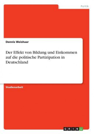 Der Effekt von Bildung und Einkommen auf die politische Partizipation in Deutschland