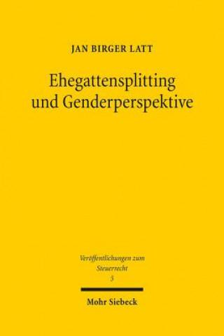 Ehegattensplitting und Genderperspektive
