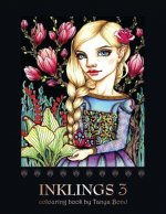 Inklings 3 Colouring Book by Tanya Bond: Coloring Book for Adults, Teens and Children, Featuring 24 Single Sided Fantasy Art Illustrations by Tanya Bo